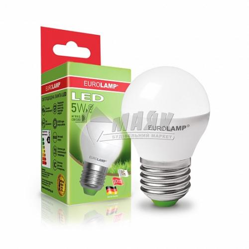 Лампа світлодіодна куля EUROLAMP 5Вт Е27 G45/Р45 3000°К (LED-G45-05273(D))