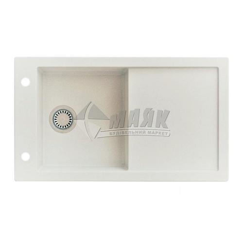 Мийка кухонна гранітна прямокутна AXIS TRAMONTANA з полицею + сифон 860×500 мм сірий