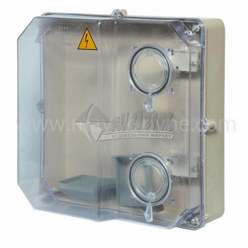 Корпус пластиковий КДЕ-У під трифазний лічильник прозорий
