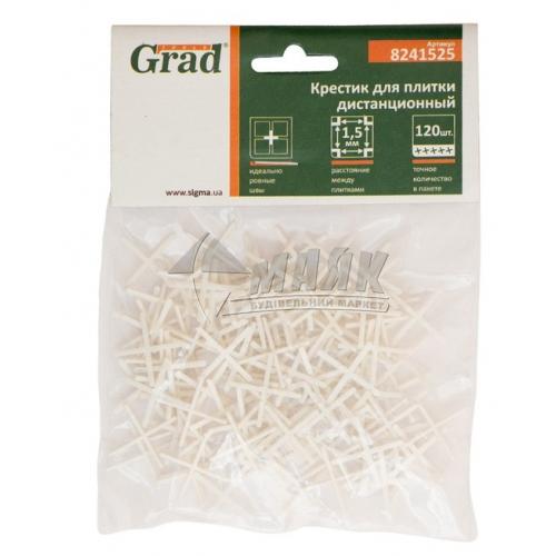 Хрестики дистанційні для плитки Grad 1,5 мм 120 шт