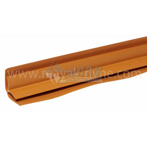 Профіль монтажний ПВХ кут внутрішній 3 пог.м 8 мм темно-коричневий