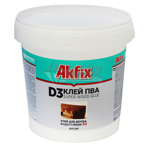 Клей для деревини Akfix ПВА D3 1000 г