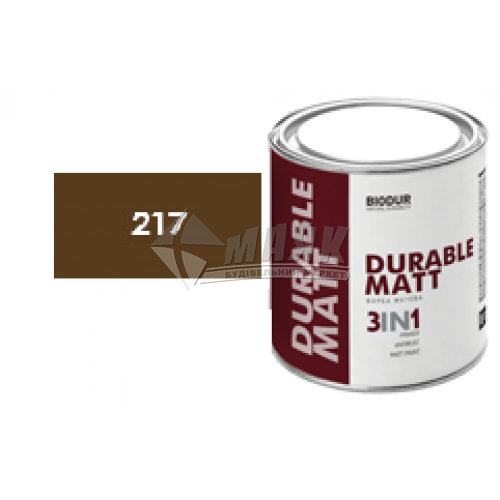 Емаль антикорозійна Biodur 3в1 2,1 л 217 коричнева матова