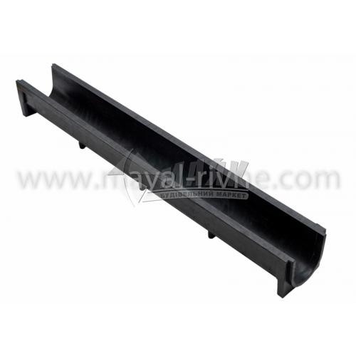 Водовідвід полімерпіщаний глибокий 1000×140×125 мм чорний