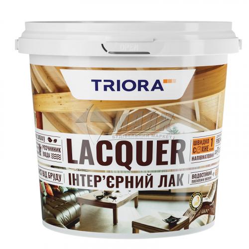 Лак для деревини TRIORA акриловий для внутрішніх робіт 0,75 л безбарвний напівматовий