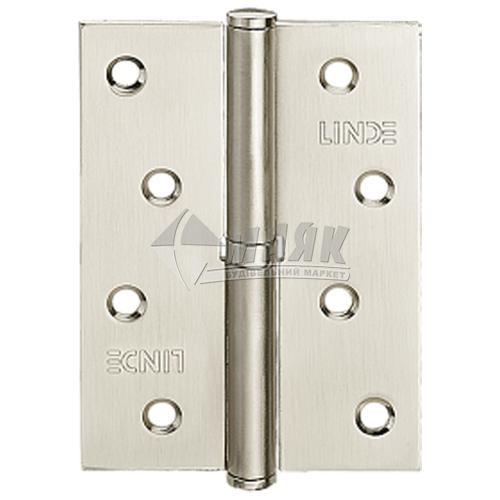 Петля дверна врізна LINDE 100×75 SN-R права нікель матовий