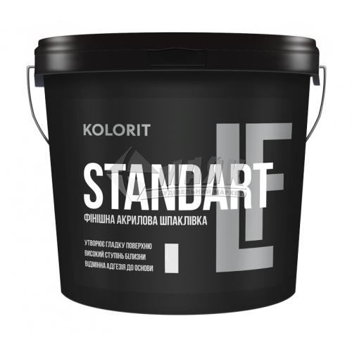 Шпаклівка акрилова KOLORIT Standart LF фінішна інтер'єрна 17 кг