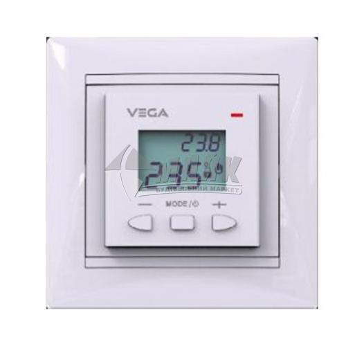 Терморегулятор для теплої підлоги VEGA LTC 070 в рамку кнопковий білий