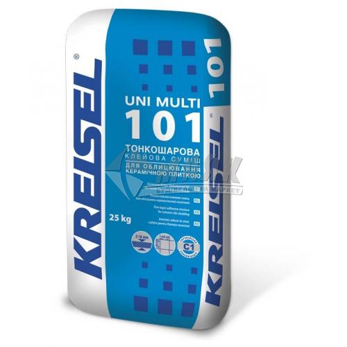 Клей для облицювальної плитки Kreisel Uni Multi 101 Тонкошаровий 25 кг