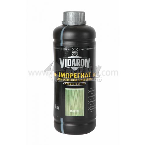 Антисептик (просочення) Vidaron Імпрегнат концентрат 1:9 для внутрішніх та зовнішніх робіт 1 кг зелений