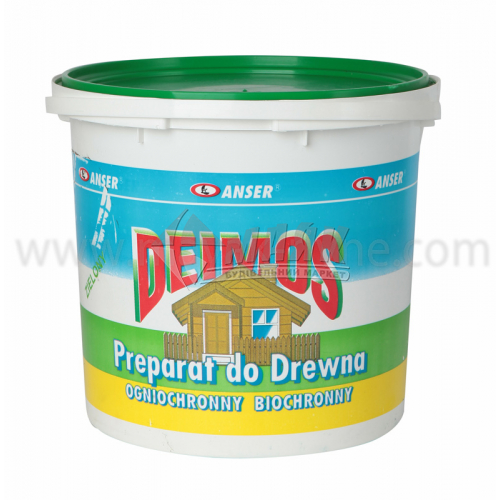 Антисептик (просочення) Anserglob Deimos концентрат 1:4 для внутрішніх та зовнішніх робіт 5 кг зелений