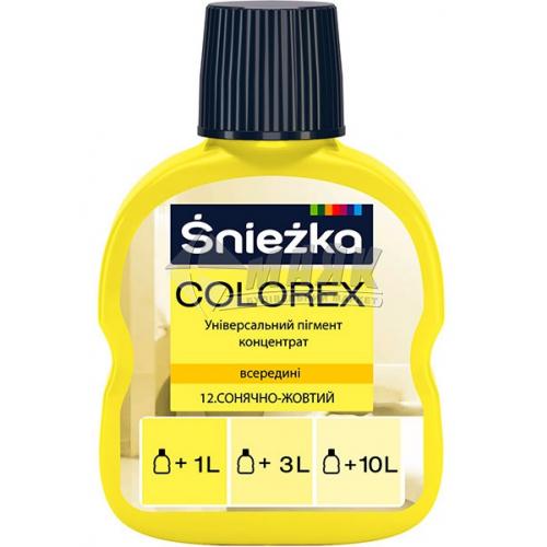 Барвник Sniezka Colorex 100 мл 12* сонячно-жовтий