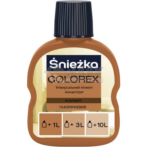 Барвник Sniezka Colorex 100 мл 74 коричневий