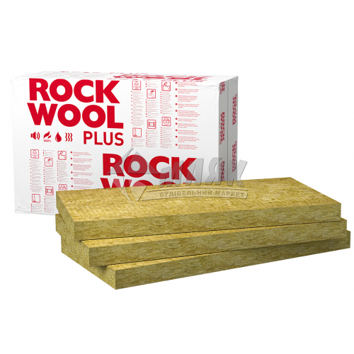 Вата мінеральна базальтова Rockwool Rockmin Plus 100 мм 31 кг/куб.м 6,1 кв.м