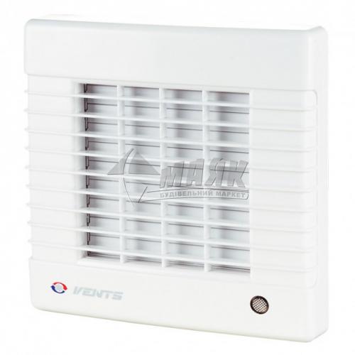 Вентилятор витяжний VENTS 125 МА (автоматичні жалюзі) 170×186 мм