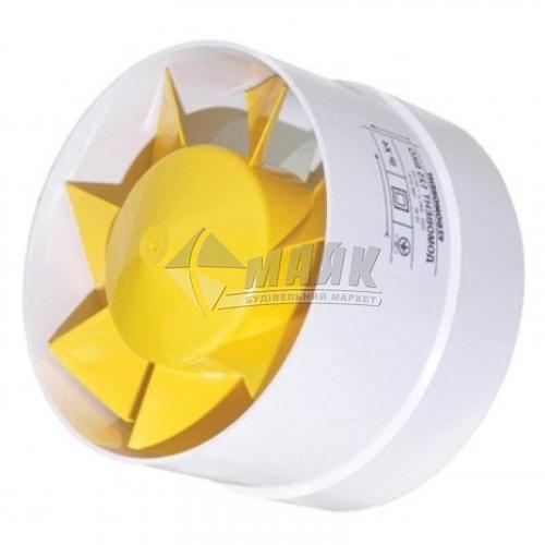 Вентилятор витяжний ДОМОВЕНТ 125 ВКО канальний 129×85 мм
