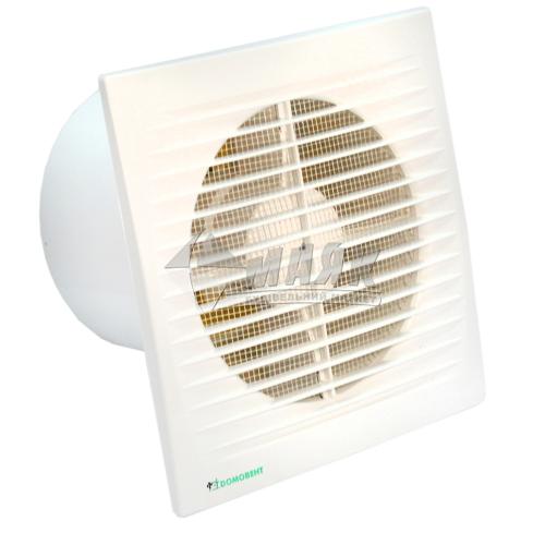 Вентилятор витяжний ДОМОВЕНТ 125 СВ з вимикачем 176×176 мм