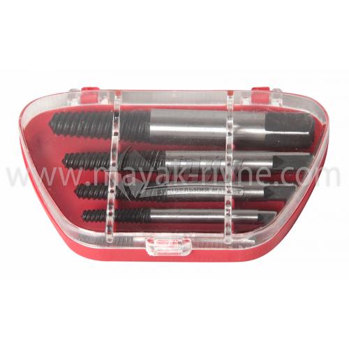 Набор экстракторов (викручувач зламаних гвинтів) TECHNICS 3,3-19 мм 5 шт