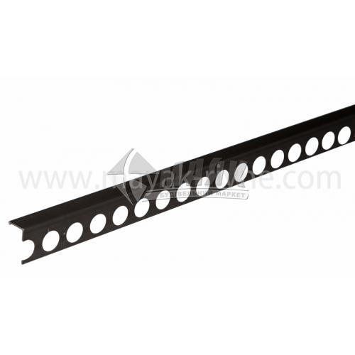 Профіль для плитки алюмінієвий TIS АП12 2700 мм бронза матова