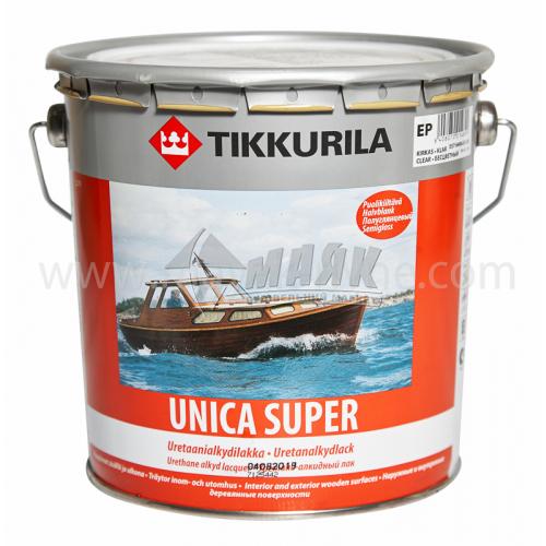 Лак яхтовий Tikkurila Unica Super для внутрішніх та зовнішніх робіт 2,7 л напівглянцевий