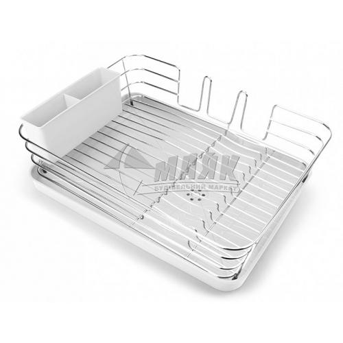 Сушка для посуду з органайзером MVM DR-02 WHITE біла