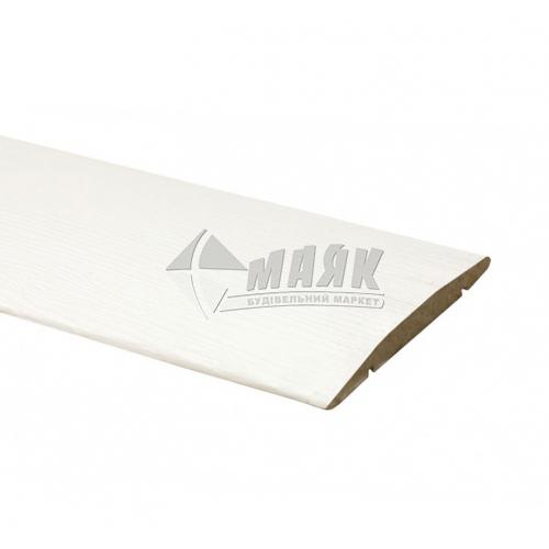 Налічник ОМіС пластиковий напівкруглий 70×2200 мм білий