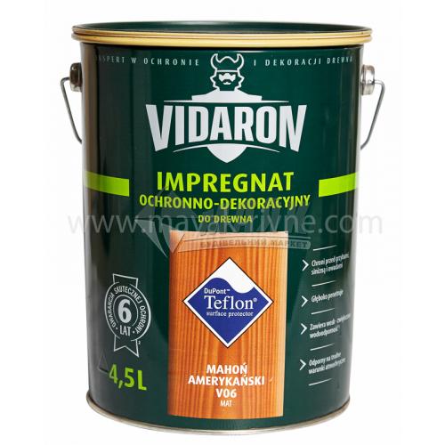 Захист для деревини Vidaron Impregnat 4в1 V06 9 л американське червоне дерево