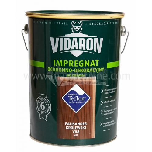 Захист для деревини Vidaron Impregnat 4в1 V08 9 л королівський палісандр