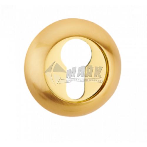 Накладка на циліндр кругла MVM E9a PB/SB латунь полірована/латунь матова