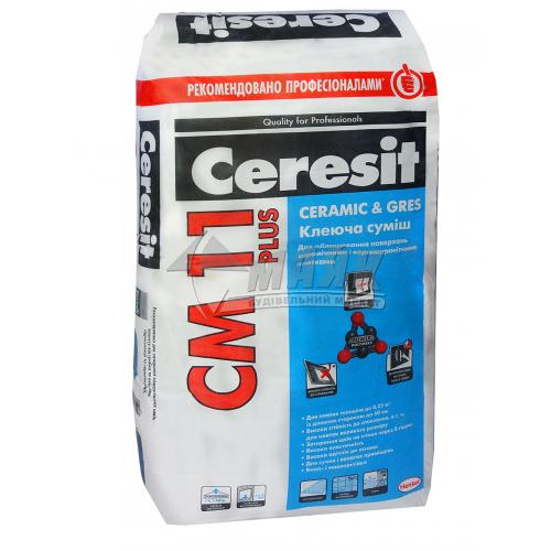 Клей для облицювальної плитки Ceresit CM 11 Plus Ceramic & Gres 25 кг