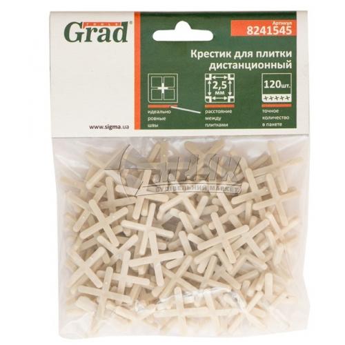 Хрестики дистанційні для плитки Grad 2,5 мм 120 шт