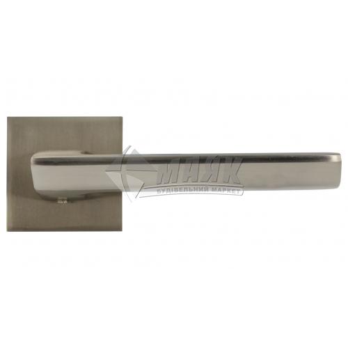Ручки дверні на розетці LINDE А-2021 SN нікель матовий