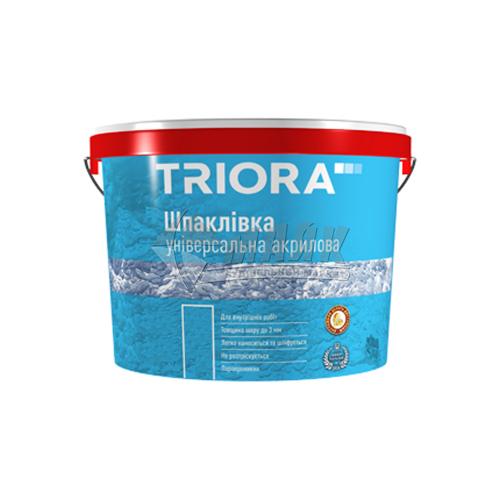 Шпаклівка акрилова TRIORA універсальна інтер'єрна 5 кг біла