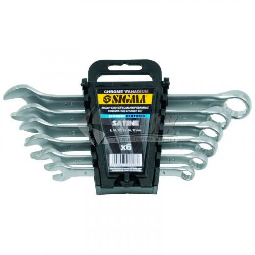Набір ключів ріжково-накидних SIGMA 8-17 мм 6 шт Cr-V