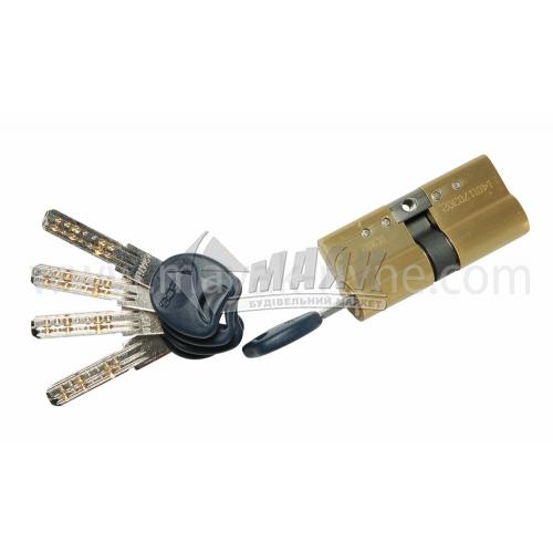 Циліндр ключ-ключ Apecs XD-70-G золото
