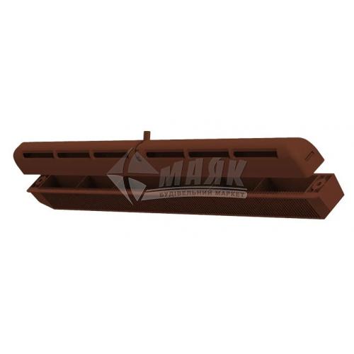 Провітрювач віконний VENTS ПО 400 400 мм коричневий