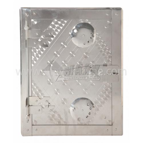 Дверцята для духовки нержавіюча сталь 285×215 мм 2,3 кг