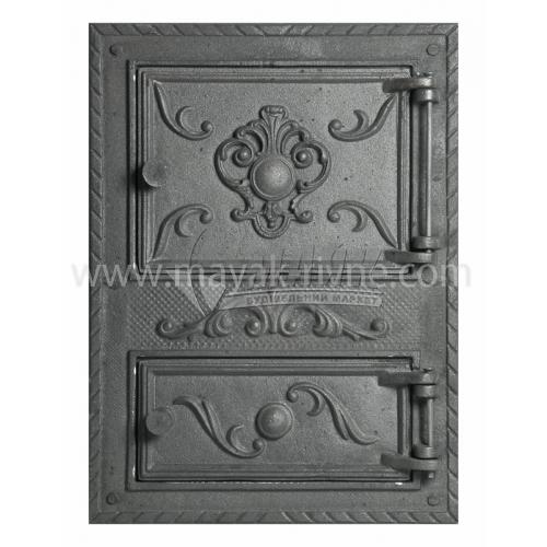 Дверцята спарені декоративні Квітка 380×550 мм 16,6 кг