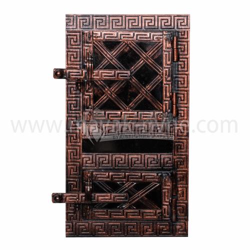 Дверцята спарені металеві декоративні 300×550 мм 9,0 кг