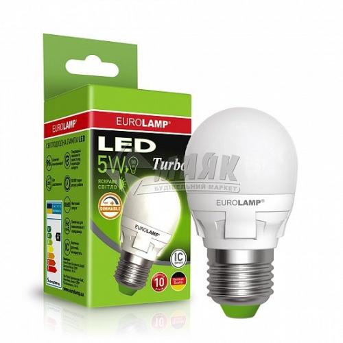 Лампа світлодіодна куля EUROLAMP 5Вт Е27 G45 4000°К дімміруюча (LED-G45-05274(T)dim)