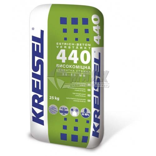 Суміш для стяжки Kreisel 440 Високоміцна шар 20-80 мм 25 кг