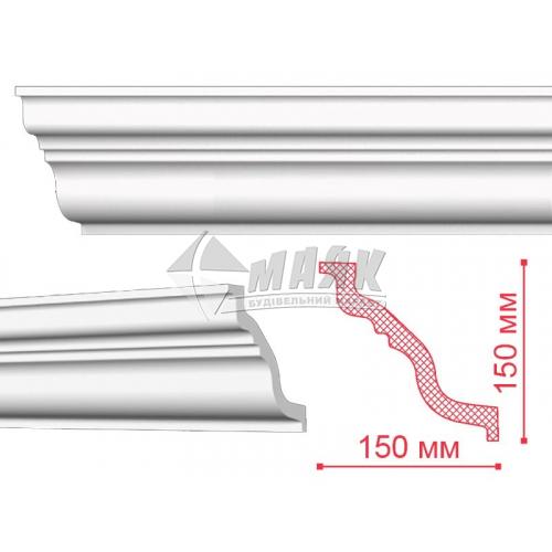 Плінтус стельовий декоративний NMC TL Nomastyll 145×155×2000 мм