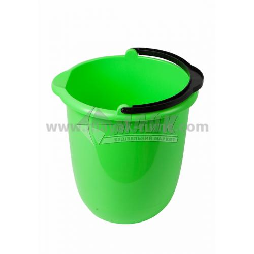 Відро пластикове господарське кругле з носиком та поділками Модерн 12 л в асортименті