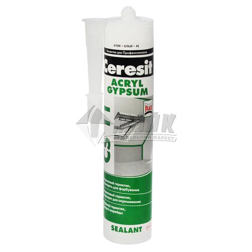 Герметик акриловий Ceresit Acril Gypsum CS 11 280 мл білий