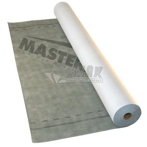 Гідробар'єр MasterMax 3 Eco Супердифузійна мембрана 115 г/кв.м 1,5 м 50 пог.м (75 кв.м) сірий