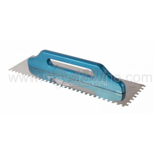 Гладилка зубчаста Швейцарська зуб 8×8 мм 130×480 мм дерев'яна ручка