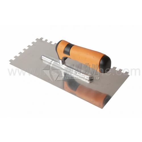 Гладилка зубчаста зуб 8×8 мм 120×280 мм нержавіюча сталь ергономічна ручка