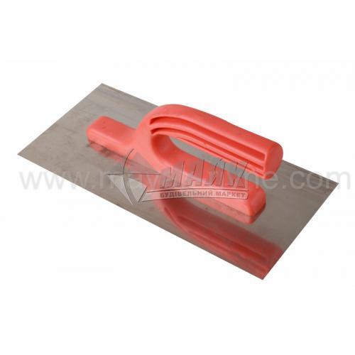 Гладилка гладка 125×270 мм нержавіюча сталь пластикова ручка