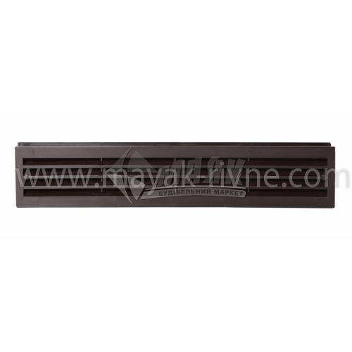 Решітка вентиляційна дверна прямокутна ДОМОВЕНТ ДВ 430/2 90×450 мм коричнева