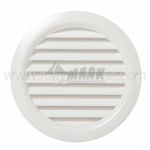 Решітка вентиляційна кругла ДОМОВЕНТ ДВ 100 бВс 118×128 мм